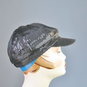 Black Sequined Baseball Cap